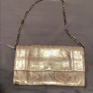 Gucci lizard skin mini chain bag